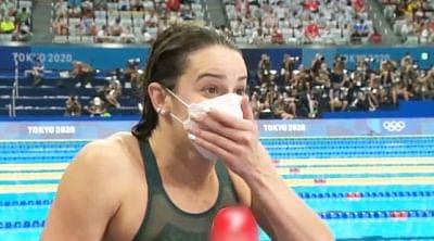 ओलंपिक (तैराकी) : ऑस्ट्रेलिया की मैककेन ने ओलंपिक रिकार्ड के साथ जीता महिलाओं का 100 मीटर बैकस्ट्रोक स्वर्ण