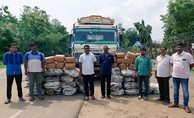 आंध्र प्रदेश पुलिस ने कोयला ट्रक से 870 किलो गांजा बरामद किया