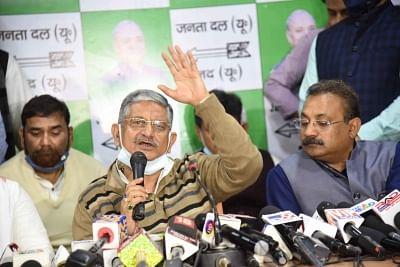 नीतीश कुमार की मौजूदगी में जदयू के नए राष्ट्रीय अध्यक्ष चुने गए सांसद ललन सिंह