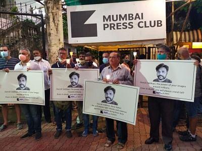 दानिश सिद्दीकी को मुंबई मीडिया ने मोमबत्ती की रोशनी में दी श्रद्धांजलि