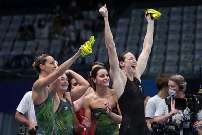 ओलंपिक ( महिला तैराकी) : ऑस्ट्रेलिया ने जीता 4गुणा100 मी. मेडले रिले का स्वर्ण