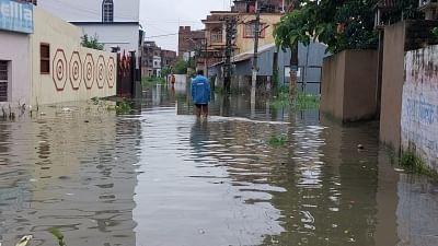 बिहार: बारिश के बाद मुजफ्फरपुर पानी-पानी, अस्पताल तक में घुसा पानी