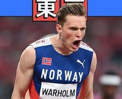 ओलंपिक (400 मी. हर्डल्स) : नॉर्वे के वॉरहोम ने अपना ही विश्व रिकॉर्ड तोड़ा