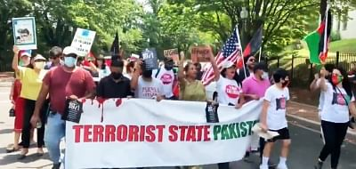 पाकिस्तान के स्वतंत्रता दिवस को ब्लैक डे के रूप में मनाने के लिए अमेरिका में विरोध प्रदर्शनों का सिलसिला