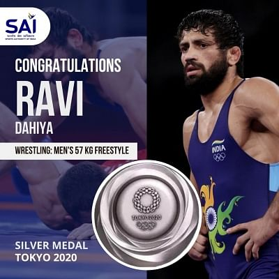 ओलंपिक (कुश्ती) : फाइनल में हारे रवि, हासिल किया रजत पदक