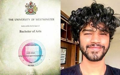 ड्रॉप आउट होने के बावजूद इरफान खान के बेटे बाबिल को मिली डिग्री
