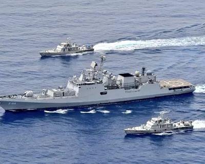 भारतीय नौसेना ने लाल सागर में किया अभ्यास