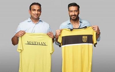 फुटबॉल प्रतिभा को निखारने के लिए अजय देवगन अभिनीत मैदान, हैदराबाद एफसी के बीच करार