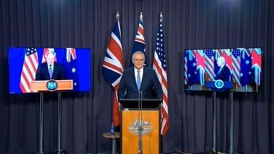 यूएस, यूके, ऑस्ट्रेलिया ने नई सुरक्षा साझेदारी की घोषणा की