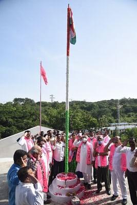 राजनीतिक दलों ने मनाया तेलंगाना विलय दिवस