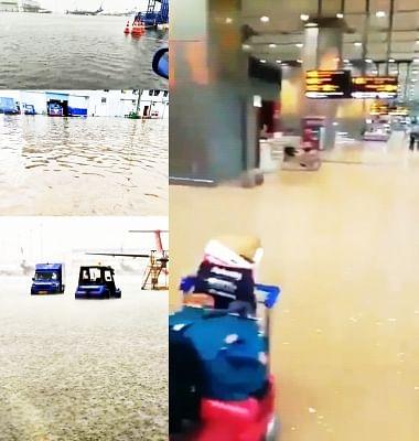 भारी बारिश से आईजीआईए में जलजमाव, लेकिन संचालन प्रभावित नहीं (लीड-1)
