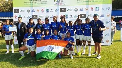 भारत ने एशिया रग्बी अंडर 18 गर्ल्स रग्बी सेवन्स चैंपियनशिप 2021 में रजत पदक जीता