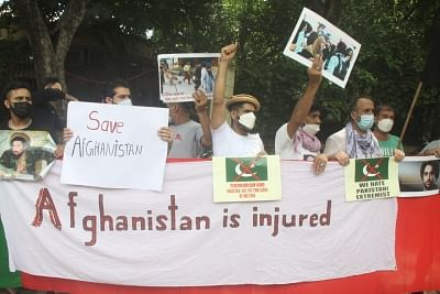 new-delhi-second-protest-of-afghan-citizens-against-pakistan-in-a-week-said-pakistan-should-stop-interfering-in-afghan