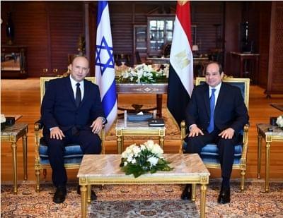 मिस्र के राष्ट्रपति, इजरायली प्रधानमंत्री ने फिलीस्तीन के द्विपक्षीय संबंधों पर चर्चा की