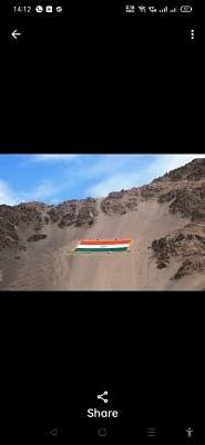 लेह में फहराया गया सबसे बड़ा स्मारकीय राष्ट्रीय ध्वज