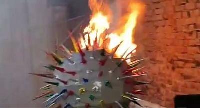 बिहार : गांधी मैदान में नहीं हुआ कार्यक्रम, कालिदास रंगालय में रावण के साथ जलाया गया कोरोना का पुतला