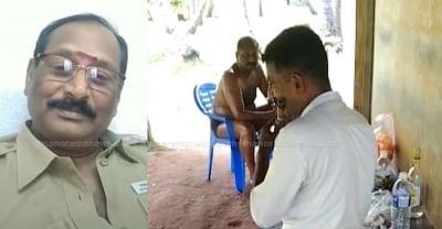 तेल मालिश के साथ शराब का आनंद लेते दिखा तमिलनाडु पुलिस का अधिकारी