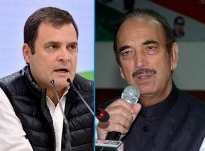 कांग्रेस में सुलह के संकेत : राहुल, गुलाम नबी आजाद एक साथ नजर आए