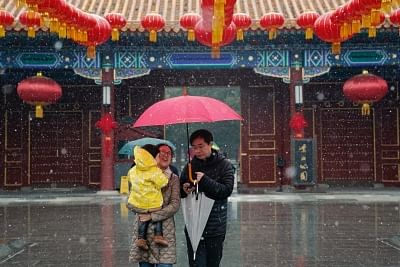 बीजिंग ने आधी सदी में सबसे कम अक्टूबर का तापमान किया दर्ज