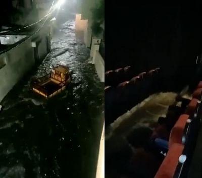 हैदराबाद में भारी बारिश, निचले इलाकों में भरा पानी