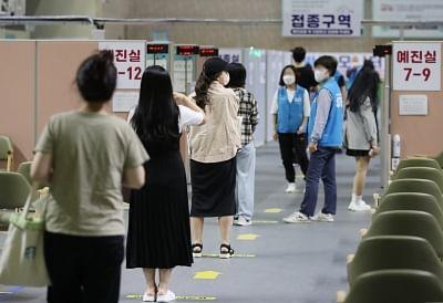 दक्षिण कोरिया में 10 में से 9 वयस्कों को वैक्सीन की मिली पहली खुराक