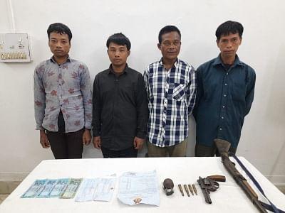 बांग्लादेश के शिविरों से भागे 4 चरमपंथियों ने त्रिपुरा पुलिस के सामने किया आत्मसमर्पण
