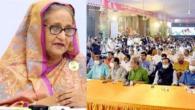 शेख हसीना ने हिंदू समुदाय से कहा, खुद को अल्पसंख्यक न समझें