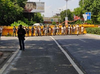 लखीमपुर खीरी हिंसा को लेकर दिल्ली में युवा कांग्रेस कार्यकर्ताओं का प्रदर्शन