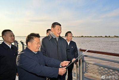 शीचिनफिंग ने पीली नदी क्षेत्र के पर्यावरण संरक्षण पर ध्यान दिया