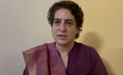 प्रियंका गांधी गिरफ्तार, पीएसी गेस्टहाउस बना अस्थायी जेल