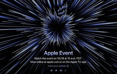 ऐप्पल ने 18 अक्टूबर के लिए एक विशेष कार्यक्रम की घोषणा की