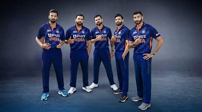 टी20 विश्व कप के लिए भारतीय टीम की जर्सी का अनावरण