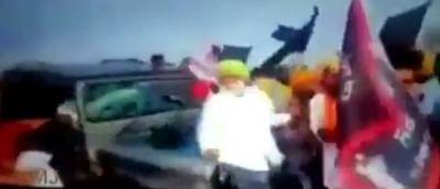 कांग्रेस ने लखीमपुर खीरी में वाहनों से किसानों को रौंदने वाला वीडियो क्लिप पोस्ट किया