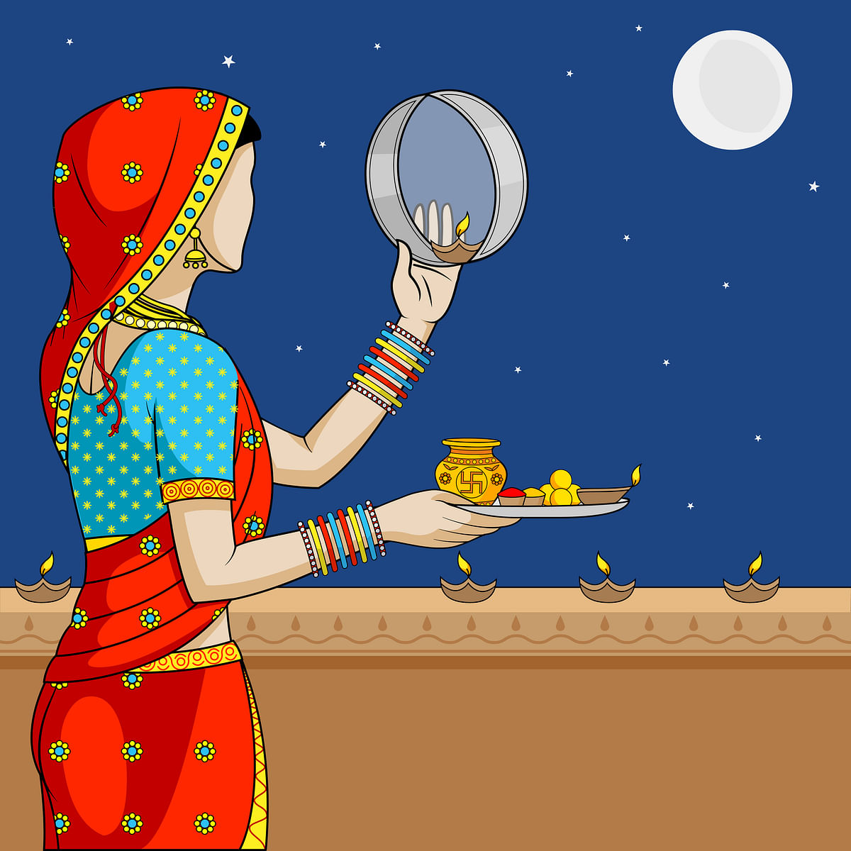 करवा चौथ व्रत कथा- Karwa Chauth Vrat Katha in Hindi