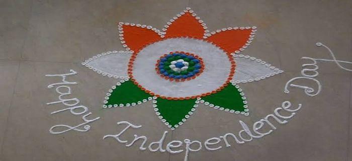 स्वतंत्रता दिवस के लिए रंगोली की बेस्ट डिज़ाइन