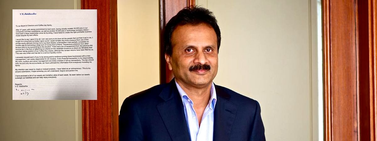 Cafe Coffee Day (CCD) owner VG Siddharth