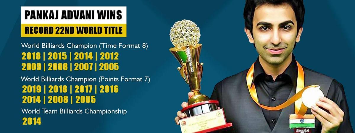 पंकज आडवाणी एक बार फिर बने 'विश्व बिलियर्ड्स चैम्पियन'