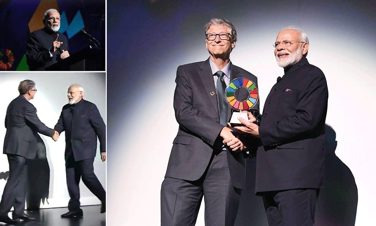 'स्वच्छ भारत अभियान' के सफल संचालन के लिए मोदी को मिला सम्मान