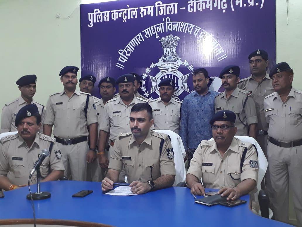 टीकमगढ़: हत्या के आरोप में कई वर्षों से फरार बदमाश गिरफ्तार