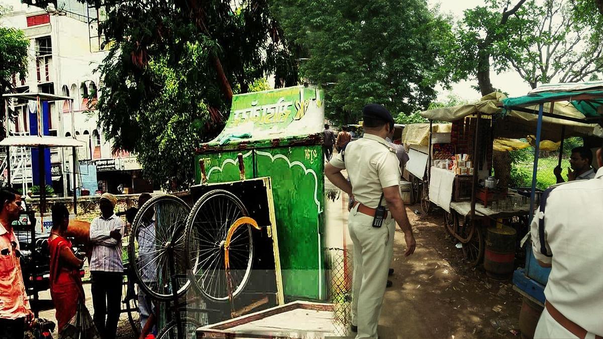 यातायात पुलिस की नई पहल-हाथ ठेला पर पहली बार हुई चालानी कार्रवाई