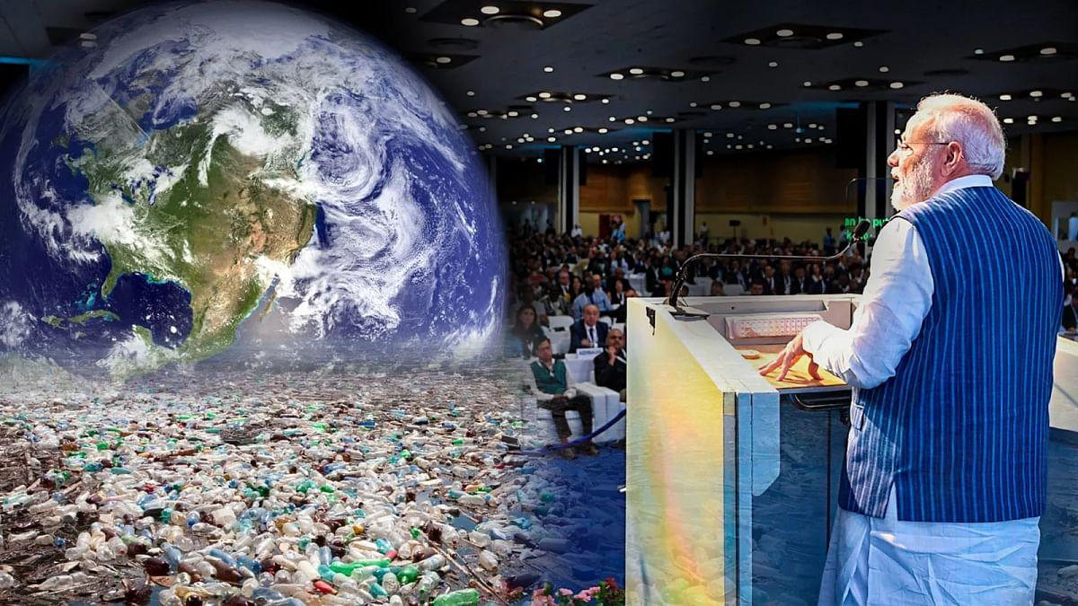 'कॉप-14' सम्मेलन को संबोधित करते हुए नरेंद्र मोदी
