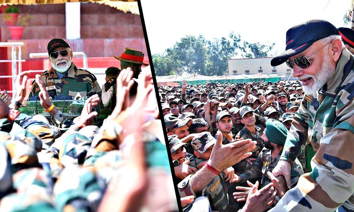 PM मोदी ने देश के वीरों संग मनाई दिवाली, सेना के जवान बेहद खुश