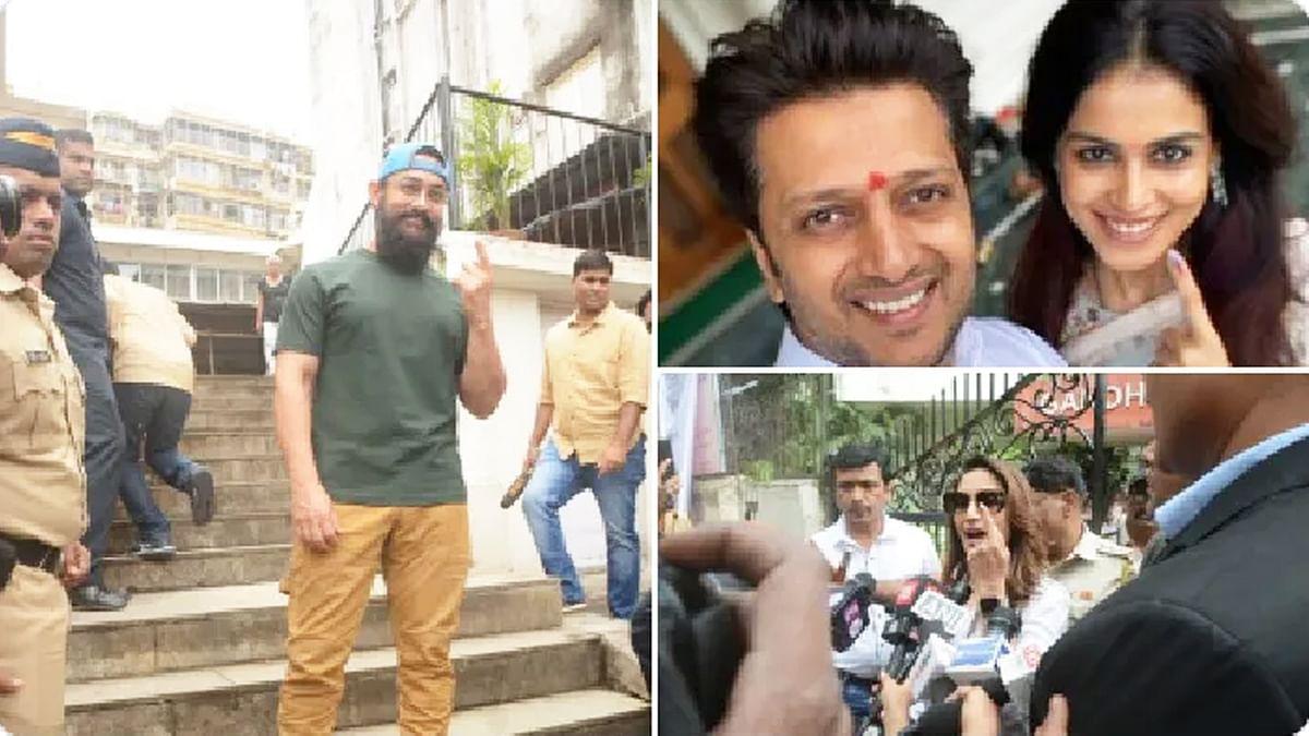 रितेश देशमुख, आमिर खान समेत बॉलीवुड के कई स्टार्स ने किया मतदान