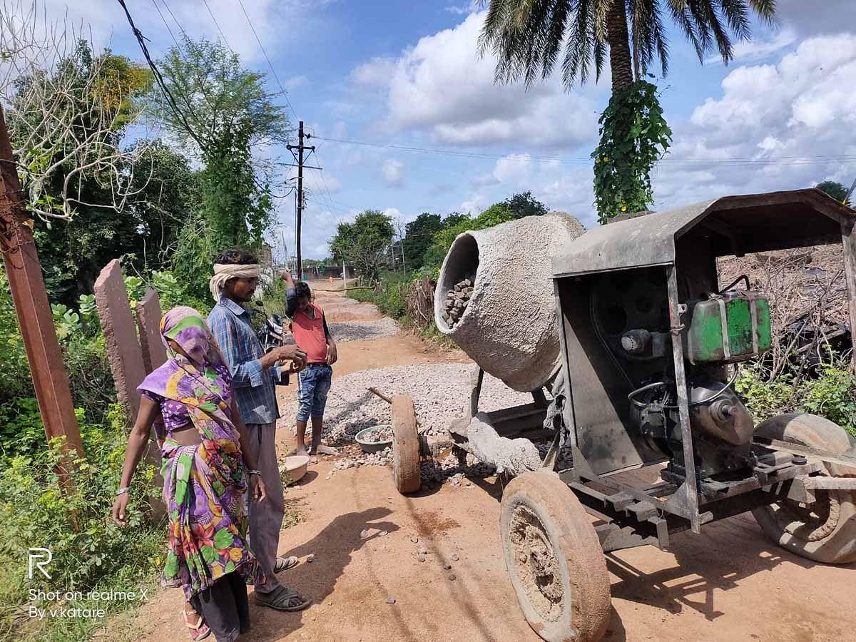 Bamor Kalan Road Construction Work