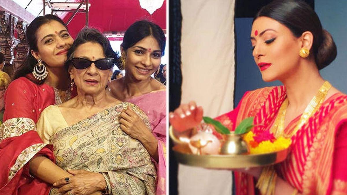 सुष्मिता सेन, काजोल समेत इन हस्तियों ने ऐसे मनाई दुर्गा पूजा, शेयर की तस्वीरें