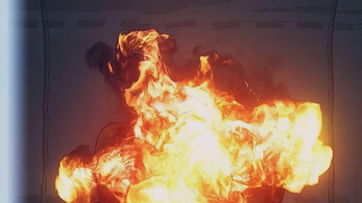 पटाखे के फटने से एक व्यक्ति की मौत