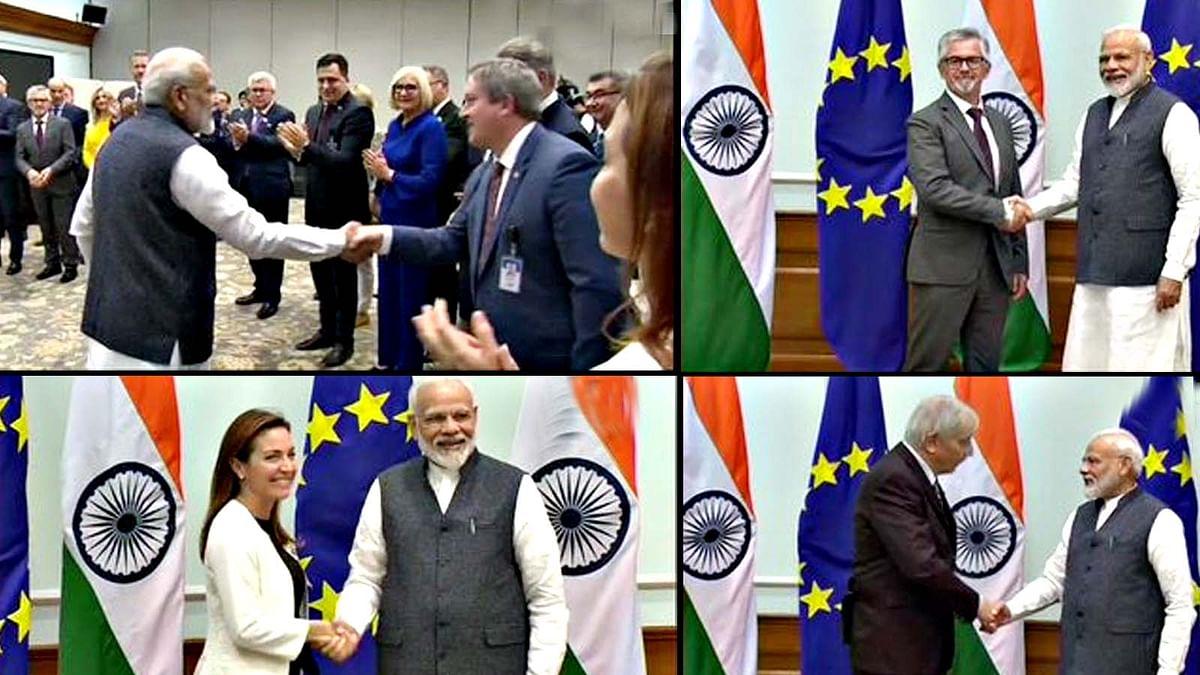 विदेशी प्रतिनिधिमंडल की PM मोदी व अजित डोभाल से मुलाकात