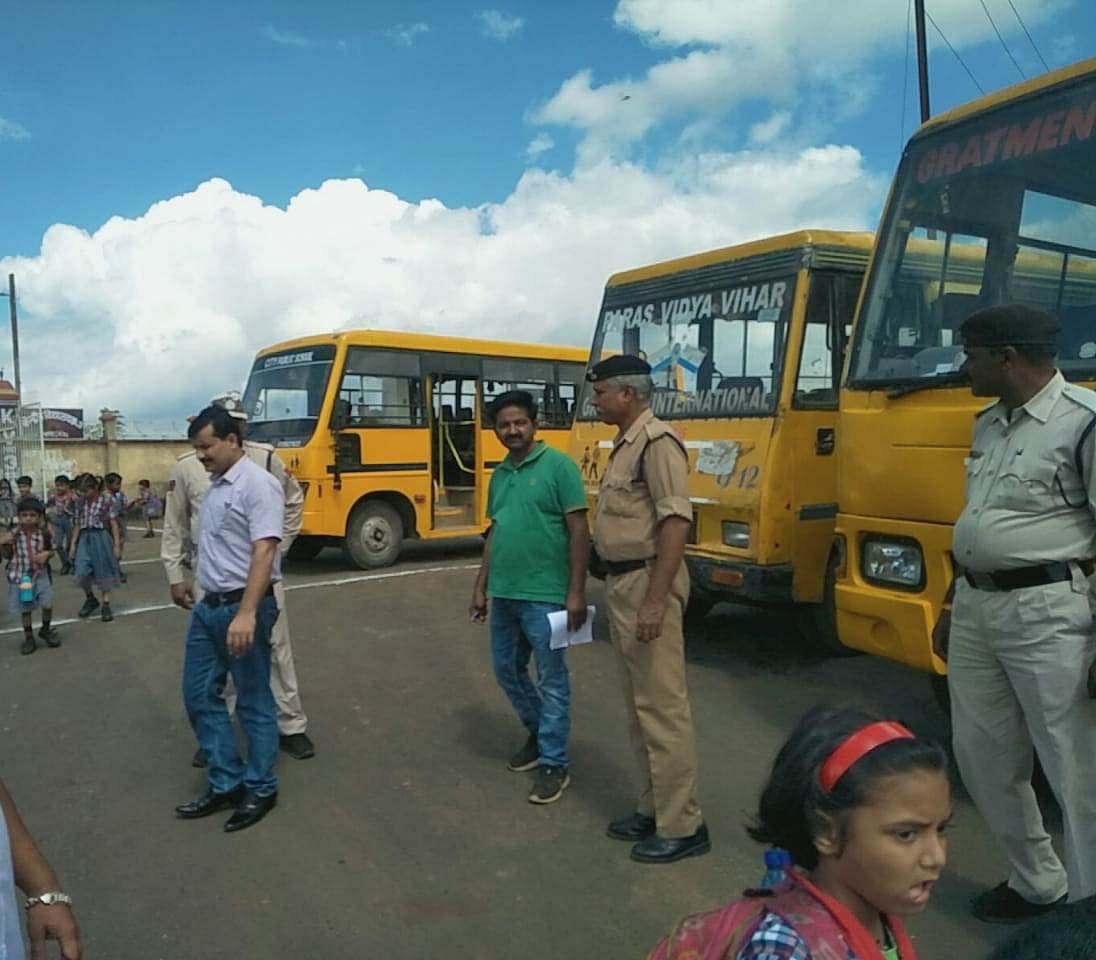 सागरः आरटीओ ने शहर के मुख्य क्षेत्रों में की वाहनों की चैकिंग