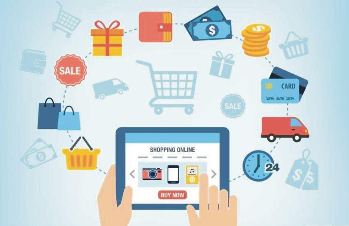 ऑनलाइन शॉपिग ने बाजारों पर डाला मंदी का असर