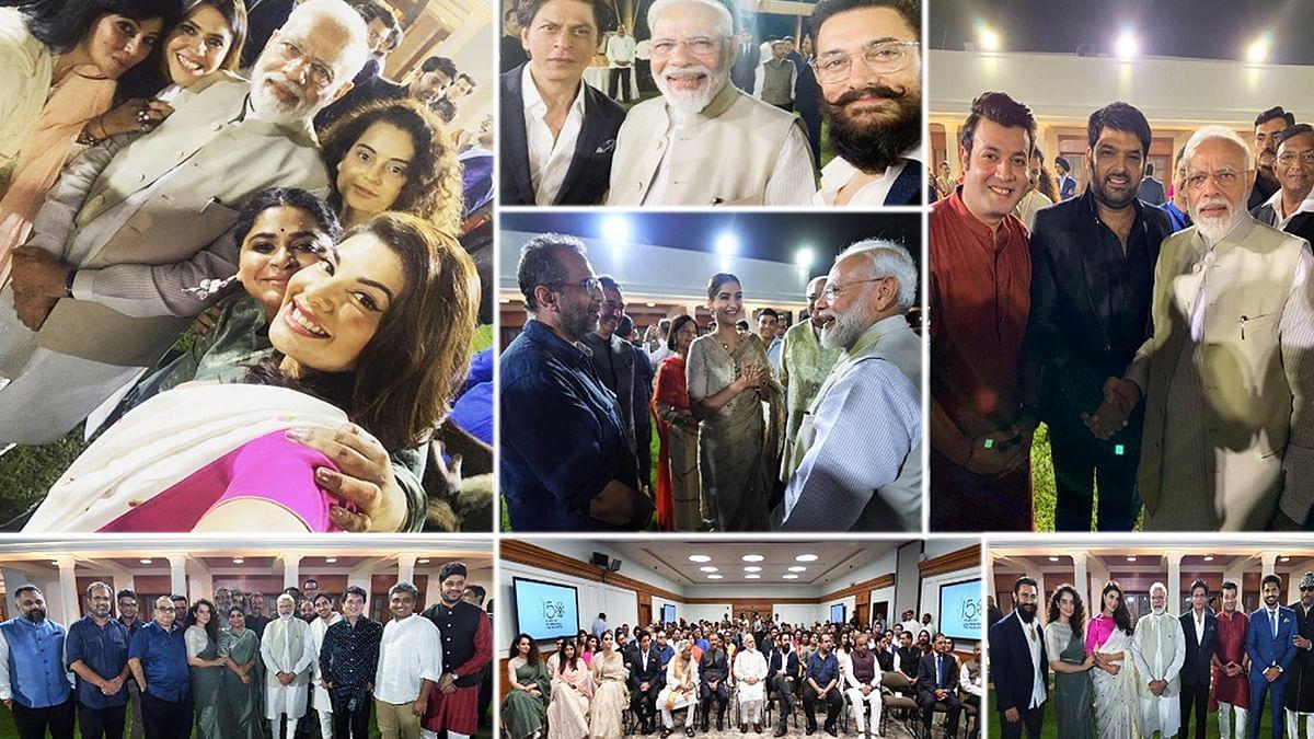 PM नरेंद्र मोदी और बॉलीवुड की मुलाकात! देखें तस्वीरें